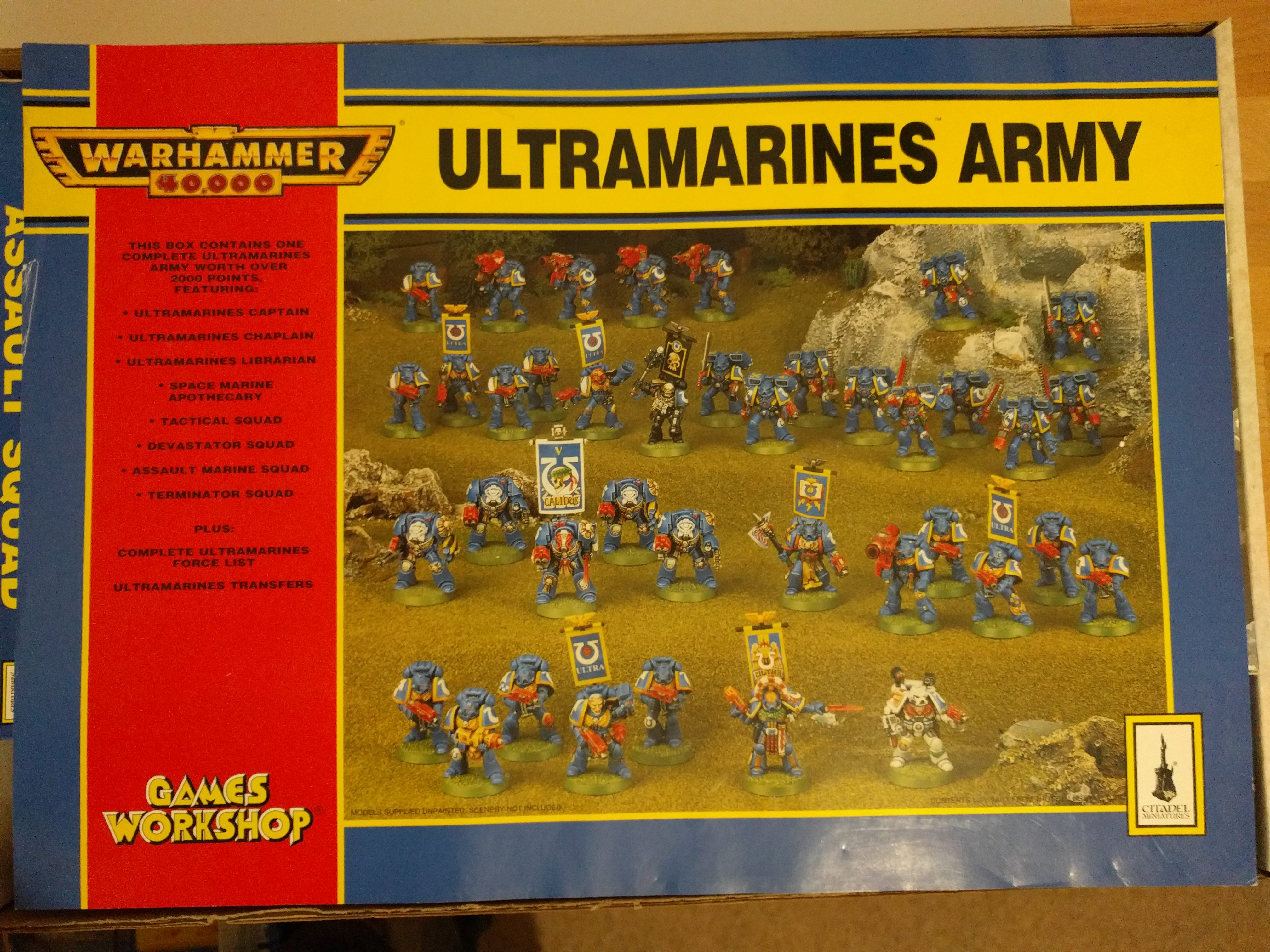 Space Marine Ultramarines Army Box 2000pts 2nd Edition Box Sleeve
