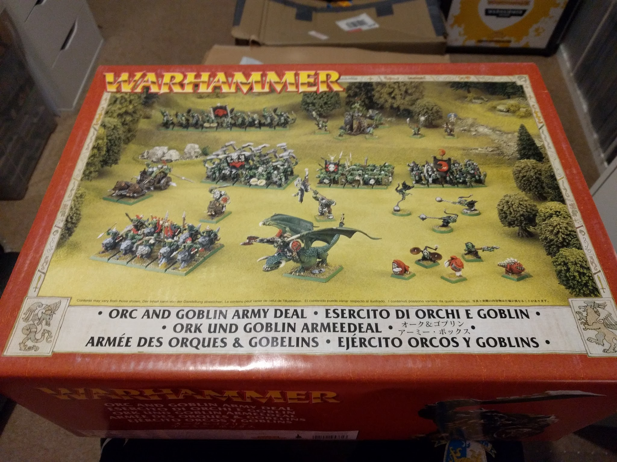 Orc and Goblin 1998 Army Box Set 6th Edition Warhammer Fantasy - Front